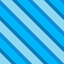 Blue Wallpaper Diagonal Stripes. Vector Seamless Lines Pattern.