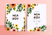 Colorful Floral Wedding Invitations Template