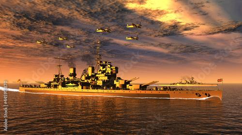 Foto 英国海軍観艦式・戦艦「キング・ジョージ5世」(WW2)