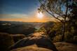 Sonnenuntergang Sächsische Schweiz