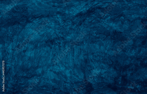 Obraz na plátně Beautiful Abstract Grunge navy blue stucco wall background