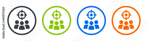 Fotografija Target audience icon vector, aim people symbol, vector illustration