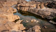 Grand Canyon Sam Phan Bok At Ubon Ratchathani, Thailand. Beautiful Landscape Of Holes And Rock Mountain