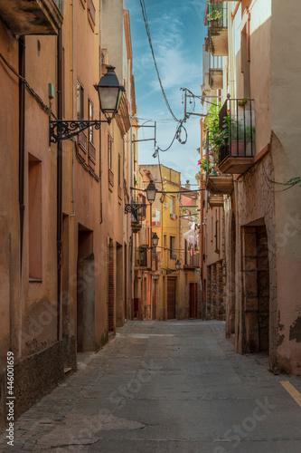 Billede på lærred Petite ruelle à Montblanc en Espagne