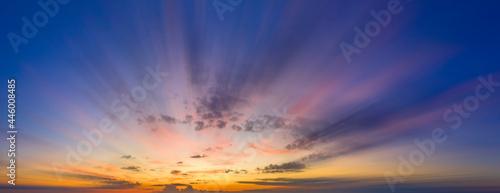 Fotografie, Obraz Blurred in motion morning or evening sky.