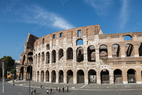 Tela View of the Roman Colosseum-an architectural monument of ancient Rome of the 1st century AD