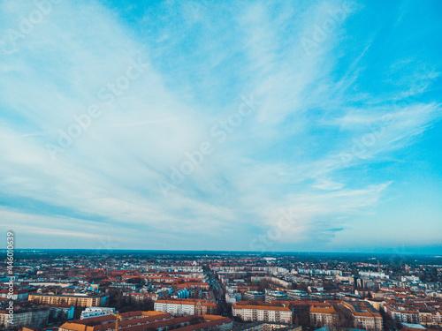 Canvastavla street crossing in berlin, photo from birds eye view