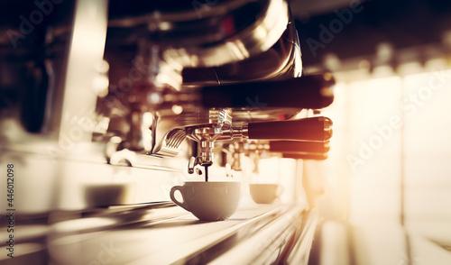 Photo Coffee machine in restaurant