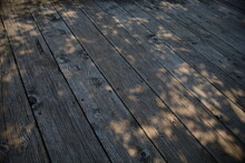 A Closeup Shot Of Old Wood Plank On The Olathe Community Center Park In Kansas, USA