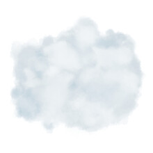 Blue Cloud Hand Drawn Illustration