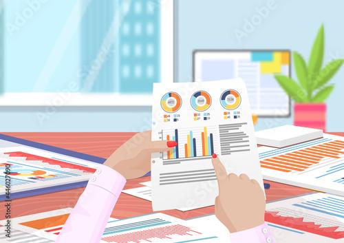 Obraz na plátně Visualize with business analytics