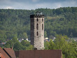 canvas print picture - Ferry gate tower, later renamed Hagelturm, Hann Muenden, Germany