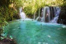 Small Waterfalls Of Menotre Foligno Umbria