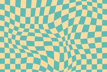 Flat Distorted Checkered Background_7