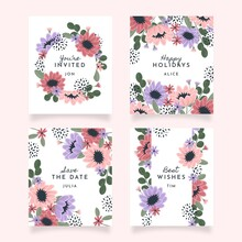 Hand Drawn Floral Cards Collection_2