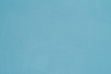 Painted Turquoise Blue Wall, Bright Texture For Modern Backdrop