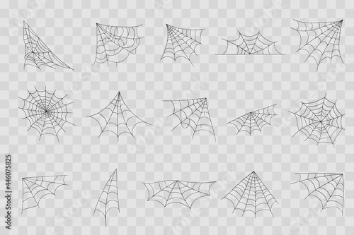 Canvastavla Hand drawn spider web or Halloween cobweb.