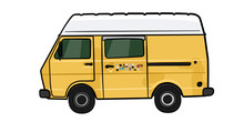 VW LT 28 Camper Gelb