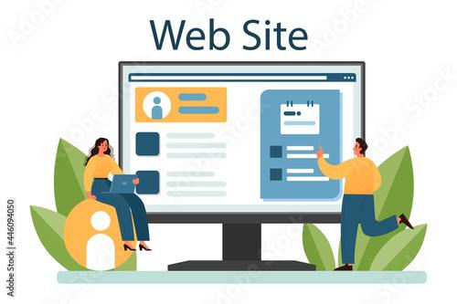 Special event online service or platform. Media performance organization