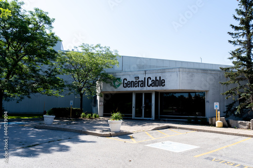 Fototapeta premium Brampton, On, Canada - July 10, 2021: General Cable Canada office in Brampton, On, Canada. General Cable is an American multinational cable manufacturing company.