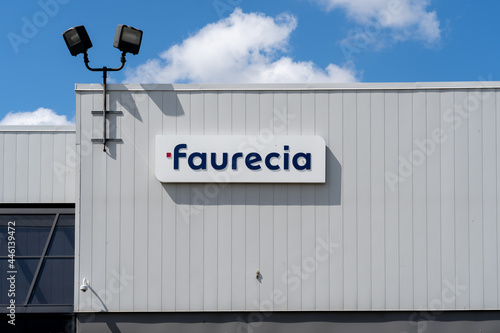 Fototapeta premium Brampton, On, Canada - July 10, 2021: Faurecia Emissions Control Technologies Canada facility in Brampton, On, Canada. Faurecia SE is a French global automotive supplier.