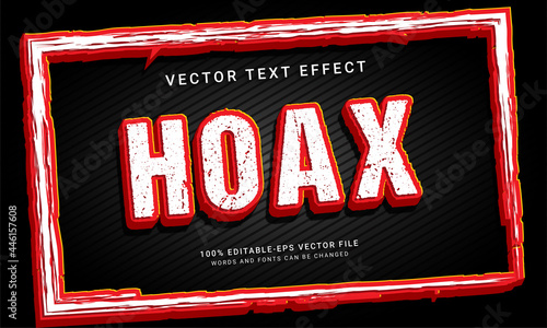 Tela Hoax 3d editable text effect with red color
