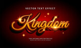 Kingdom 3d editable text style effect themed royal castle