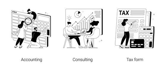Fototapeta na wymiar Financial information abstract concept vector illustrations.