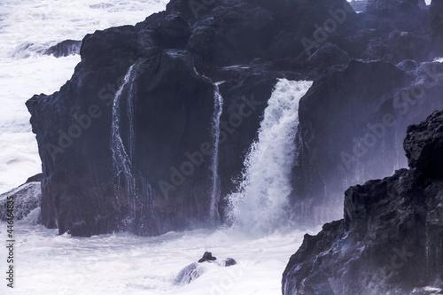 Canvastavla Déferlantes sur falaises de Saint-Leu, île de la Réunion