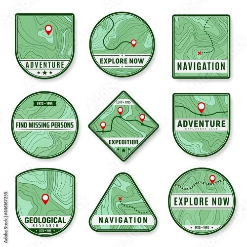 Canvastavla Topographic icons