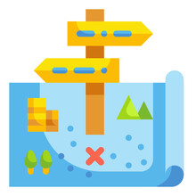 Guidepost Flat Icon