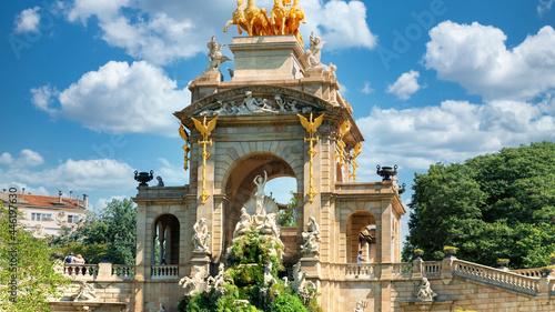 Fotografie, Obraz Fountain in the Parc de la Ciutadella