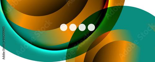 Fotografie, Obraz Fluid gradients, swirls and circles