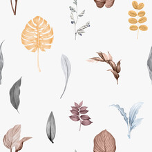 Tropical Leaves Background Design Vector