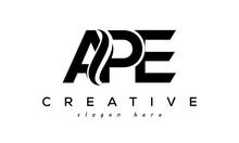 Letter APE Creative Logo Design Vector