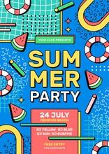 Flat Summer Party Vertical Poster Template_32