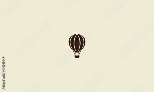 Fotografie, Obraz Hot air balloon logo vector design