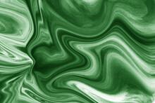 Green Textile Silk Wavy Texture Design Wallpaper/ Background