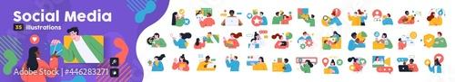 Photographie Social Media Marketing illustrations