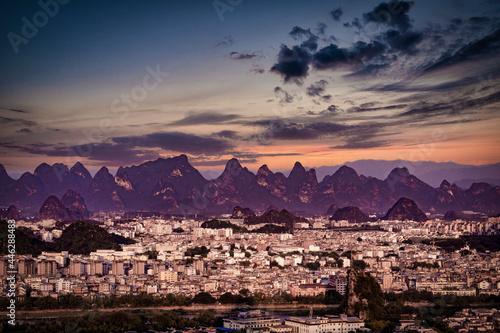 Obraz na plátně Beautiful city Guilin in Guangxi province