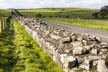 Hadrians Wall At Turret 49B Near Gilsland, Cumbria UK