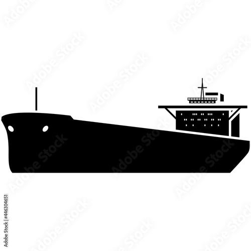 Fotografia Oil ship tanker vector marine cargo vessel silhouette