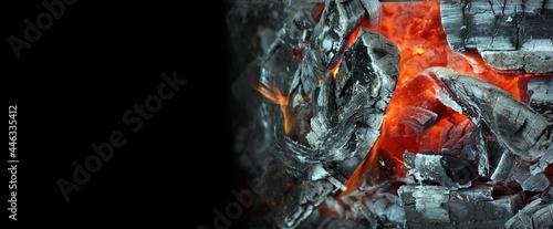 Fotografie, Obraz Coals and flames