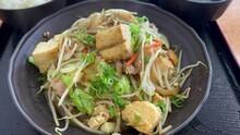 "OKINAWA, JAPAN : Okinawa Traditional Food ""Tofu Chanpuru (Stir Fried Tofu, Egg, Pork And Vegetable)""."