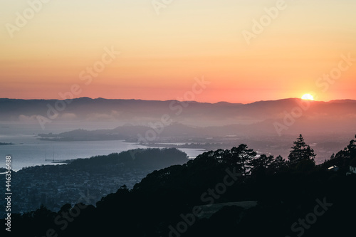 Foto Bay Area Sunset from Berkeley Hill
