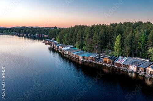 Fotografie, Obraz Evening panorama on Karelian lake Kovdozero