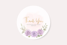 Thank You Card Design On A Flower Theme