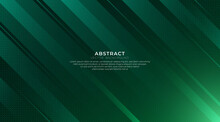 Abstract Green Gradient Dynamic Lines Background. Modern Simple Geometric Shapes Composition. Minimal Shine Geometry Texture Creative Design. Suit For Poster, Cover, Banner, Brochure, Flyer.