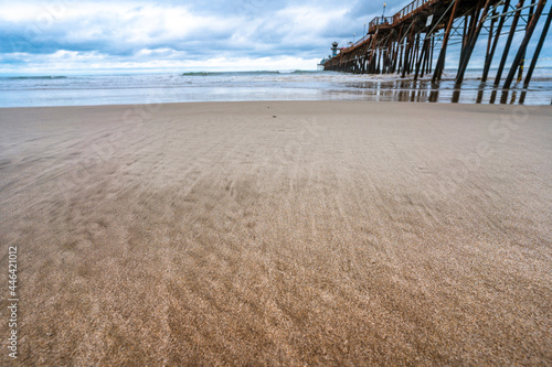 Obraz na płótnie Amazing natural landscape with Oceanside Fishing Pier is located in California on a cloudy day