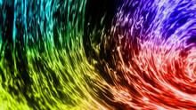 虹色のゆらめく炎のようなオーラ VJ素材などに